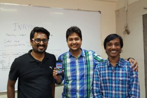 Shown Above: Inayo's Co-Founders (Left to Right) – Abhishek Sinha, Raunak jain and Purna Chandra