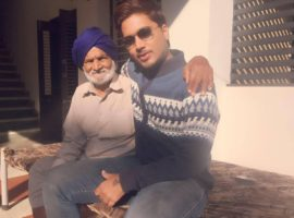 Kuldeep with his grandfather